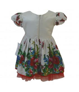Rochita pentru fetite, Katy, motive traditionale, 3-12 luni, 62-80 cm