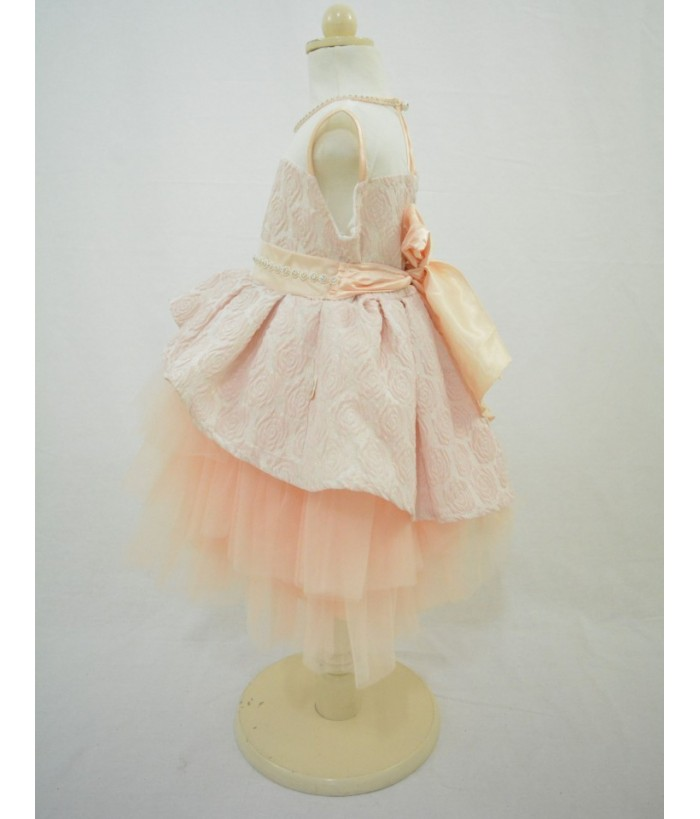Rochita pentru fetite, Ariana, roz somon, tulle, 2-4 ani, 92-104 cm