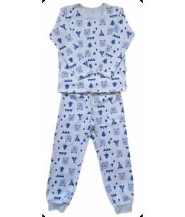 Pijamale baieti, 2-4 ani, bumbac, 92-104 cm, Mic Pitic