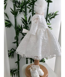 Rochie fata, Cristale de gheata, 2-12 ani, dantela cu paiete, 27146