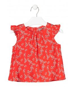 Tricou fete, 3-12 ani, Losan, 016-3002AL-6150999