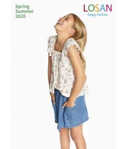 Tricou fete, 8-16 ani, Losan, 014-3002AL-6073599