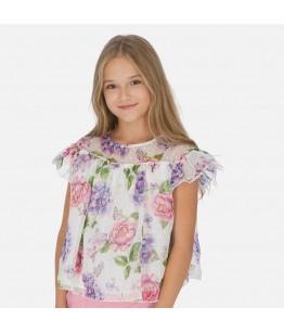 Bluza cu maneca scurta fete, 10-18 ani, Mayoral, 27462