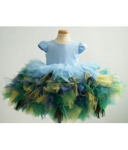 Rochita pentru fetite, Paunita, 9 luni-8 ani, Colibri, 27501