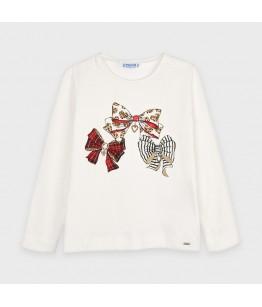 Bluza fete, 2-9 ani, alb, Mayoral, 4068