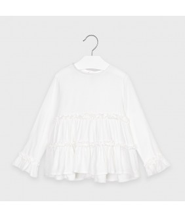 Bluza fete, 2-9 ani, alb, Mayoral, 4149