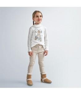 Pantaloni fete, 2-9 ani, beige, Mayoral, 4554