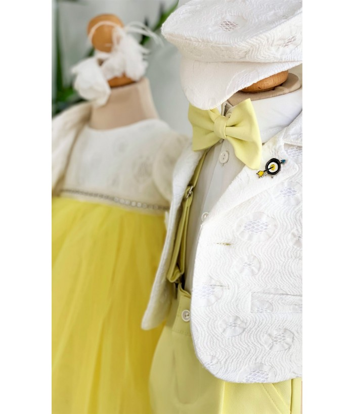 Costum elegant de baiat, stofa, 0-12 luni, Colibri, 27630