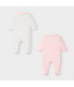 Set salopete fetite, 0-6 luni, Mayoral, 2752