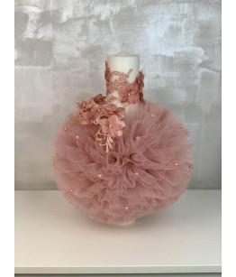 Lumanare botez, roz pudra, 27736
