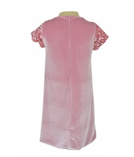 Rochie din paiete reversibile roz, pentru fetita, Felicia, 2-9 ani, 92-134 cm