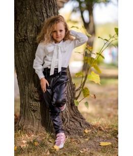 Pantaloni imitatie de piele, fete, 18 luni-11ani