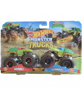 Set Hot Wheels by Mattel Monster Trucks Demolition Doubles Raphael vs Leonardo