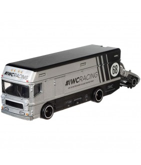 Camion Hot Wheels by Mattel Car Culture Euro Hauler cu masina Mercedes-Benz 300 SL