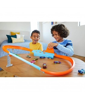 Pista de masini Hot Wheels by Mattel Rapid Raceway Champion cu masinuta