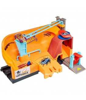 Pista de masini Hot Wheels by Mattel City Super Stunt Skate Park