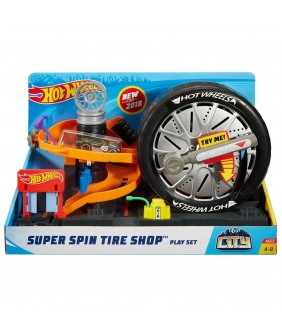 Pista de masini Hot Wheels by Mattel City Super Spin Tire Shop