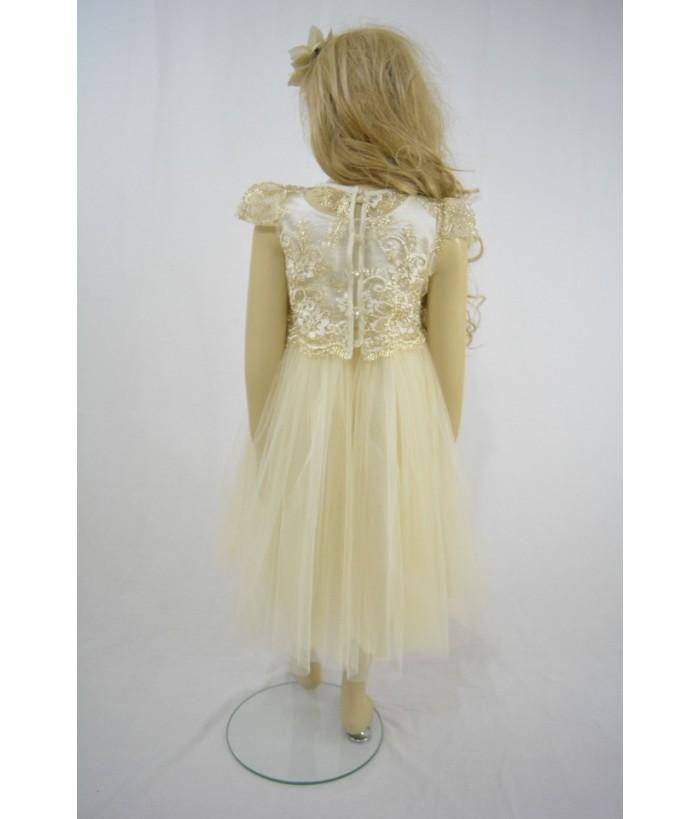Rochia pentru fetite, Adelyn Ivory, 7-10 ani, 122-140 cm
