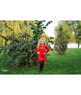 Rochita rosie de catifea 1-12 ani, Colibri, 28161