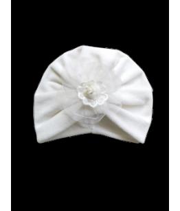 Turban cu floricica, ivoire, 0-6 luni, 28276