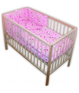 Lenjerie patut  Kitty 4 piese roz, 28302