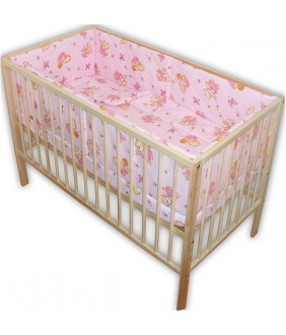 Lenjerie patut Ursulet cu albinute 5 piese roz, 28315