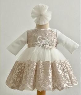 Rochita eleganta de botez, Amanda, 0-12 luni, Colibri, 28469