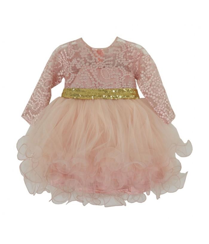 Rochie fetite Alexia Pink, 1-5 ani, 80-110 cm