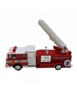 Masinuta de popieri cu lumini si sunete, GoKi, rosie, die-cast, 17.5 cm