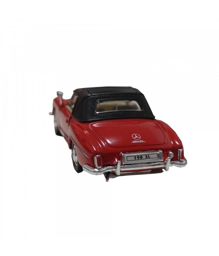 Masinuta Mercedes-Benz 190 SL (1955), rosie, die-cast, 12 cm