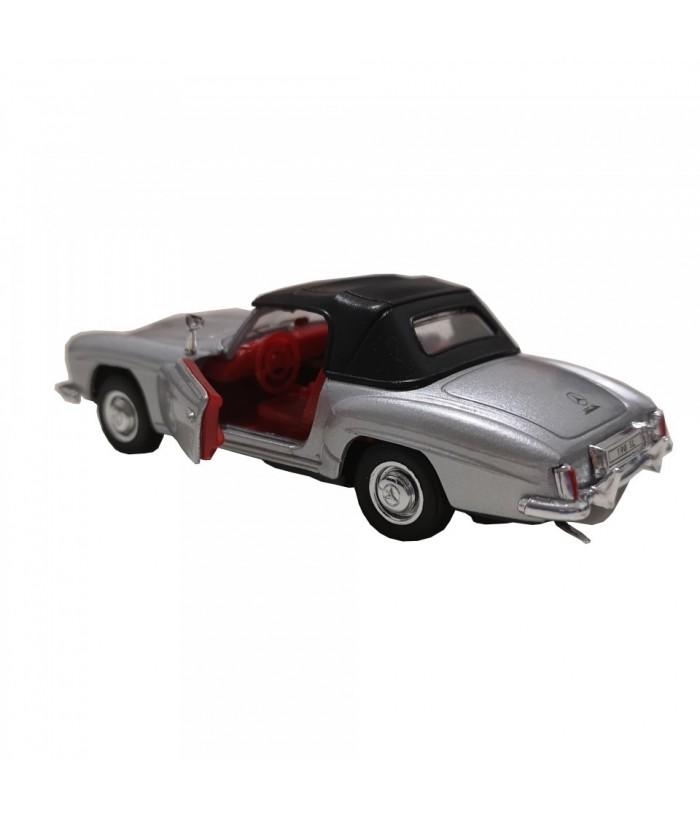 Masinuta Mercedes-Benz 190 SL (1955), gri, die-cast, 12 cm