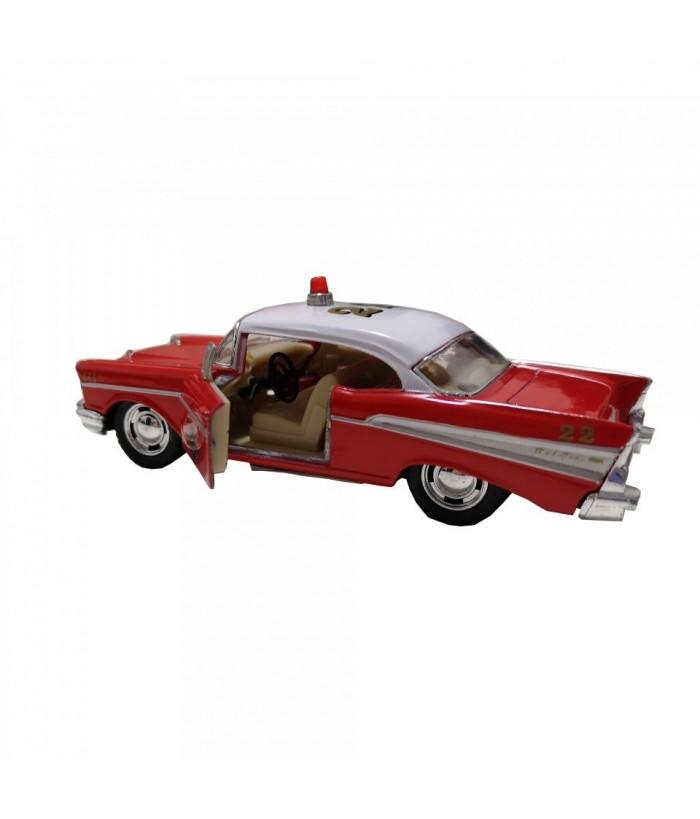 Masinuta de pompieri Chevrolet Bel Air (1957), rosie, die-cast, 12.7 cm