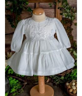 Rochita alba de botez fetita, 3-12 luni, 28777