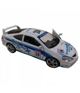 Masinuta Honda Integra Type R, GoKi, alb/albastru, die-cast, 12.5 cm