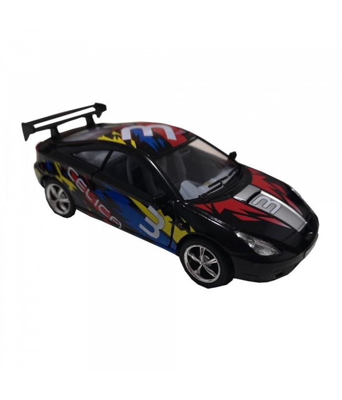 Masinuta Toyota Celica, GoKi, neagra, die-cast, 12.5 cm