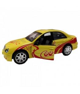 Masinuta Sport Cool Car, GoKi, galbena, lumini si sunet, die-cast, 15 cm