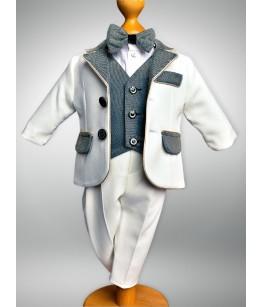 Costum baiat cu vesta si papion, 0-4 ani, 38845