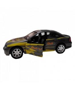 Masinuta Sport Rock 'n' Roll Car, GoKi, gri inchis, lumini si sunet, die-cast, 15 cm