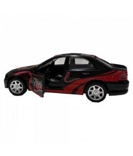 Masinuta Sport Cool Car, GoKi, neagra, lumini si sunet, die-cast, 15 cm