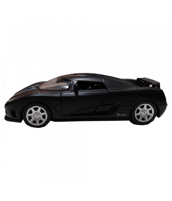 Roadster Momentum, GoKi, negru, lumini si sunet, die-cast, 14 cm