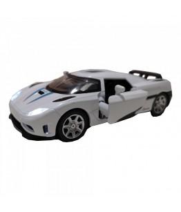 Roadster Momentum, GoKi, alb, lumini si sunet, die-cast, 14 cm
