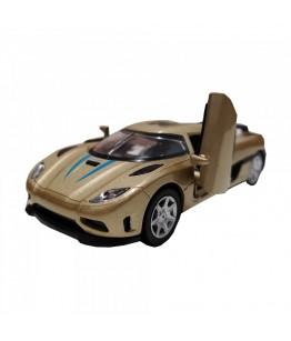 Roadster Momentum, GoKi, gold, lumini si sunet, die-cast, 14 cm
