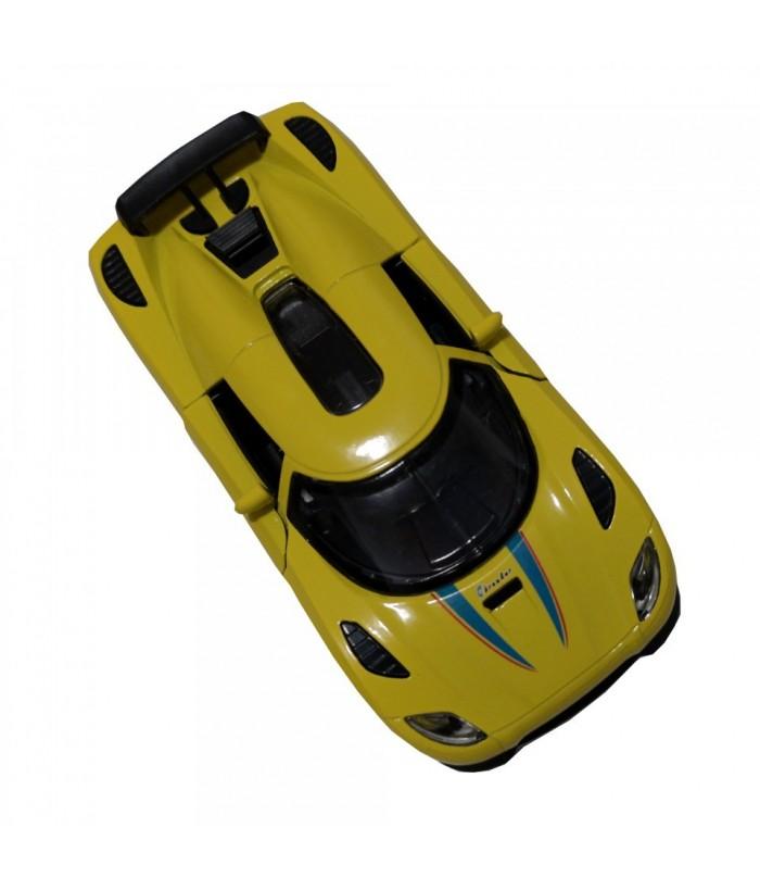 Roadster Momentum, GoKi, galben, lumini si sunet, die-cast, 14 cm