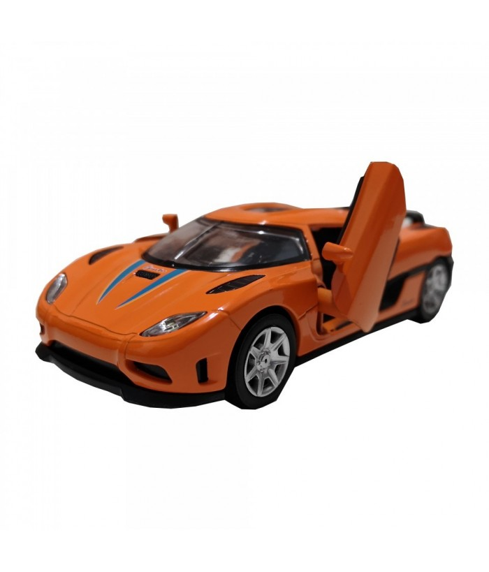 Roadster Momentum, GoKi, portocaliu, lumini si sunet, die-cast, 14 cm