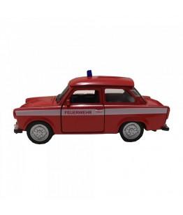 Masinuta de pompieri Trabant 601, GoKi, rosie, die-cast, 11 cm