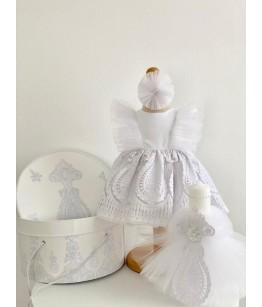 Rochita alba de botez, 0-12 luni, Colibri