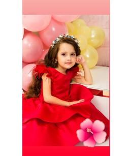 Rochita rosie, tafta, 6 luni-12 ani, 28533