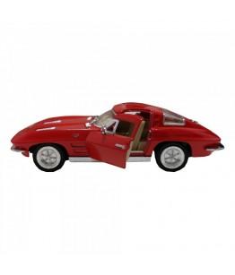 Masinuta Corvette Sting Ray (1963), GoKi, rosu, die-cast, 13 cm