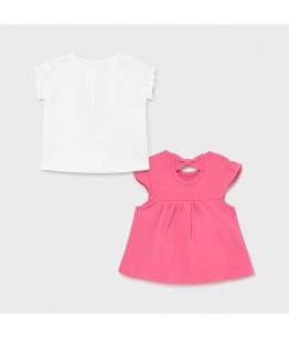 Set 2 tricouri fetite, 12 luni, Mayoral, 21-01072-047