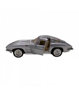 Masinuta Corvette Sting Ray (1963), GoKi, gri, die-cast, 13 cm